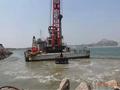 人工填海造陆周边岸壁工程水下强夯试夯现场