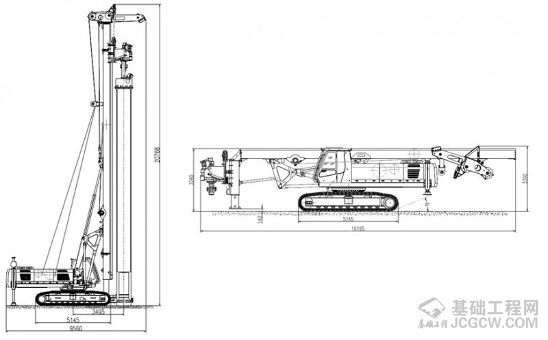 SWDTH100H潜孔锤钻机 图