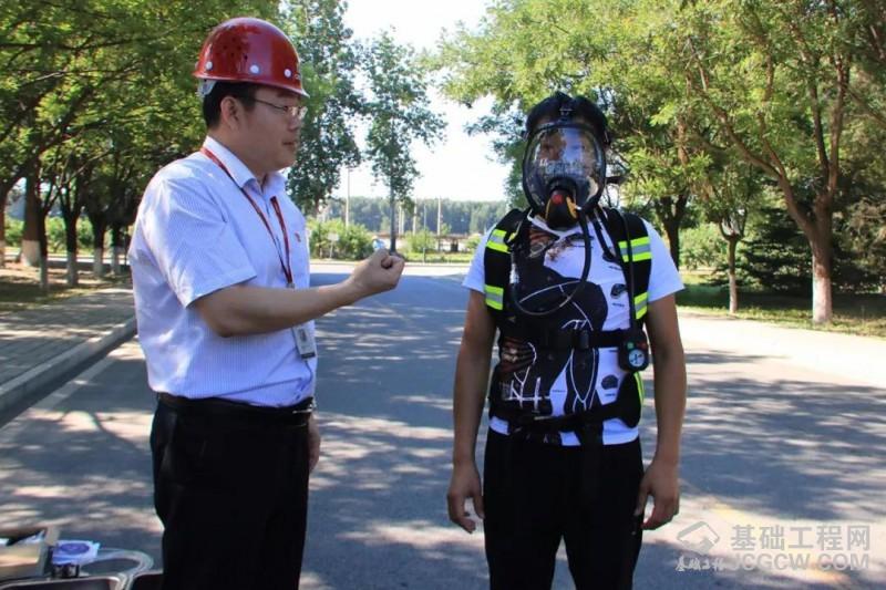 北京中车重工开展有限空间作业救援应急演练活动