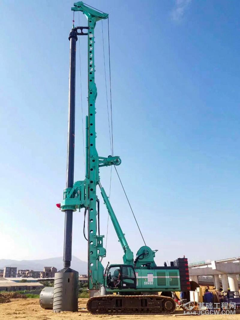 上海金泰SH46A新型旋挖钻机成功交付获客户赞誉