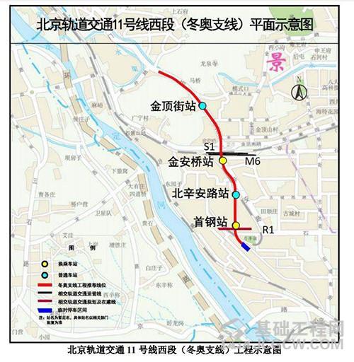 北京轨道交通11号线西段(冬奥支线)工程环评二次公示