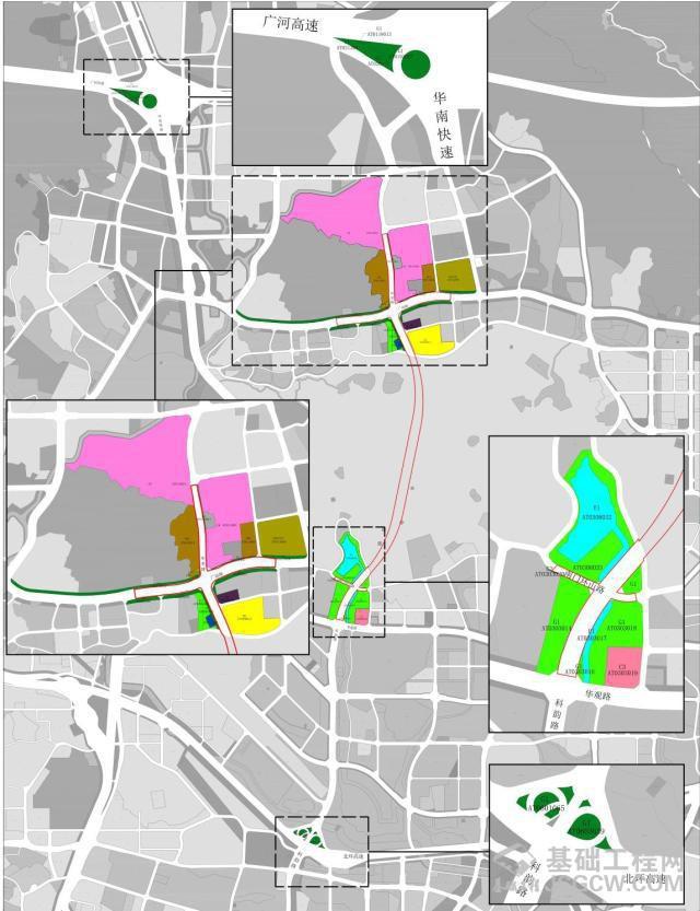 广州火炉山隧道工程控制性详细调整规划公示