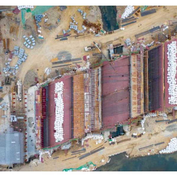 宁海南门大桥改建项目完成桩基工程