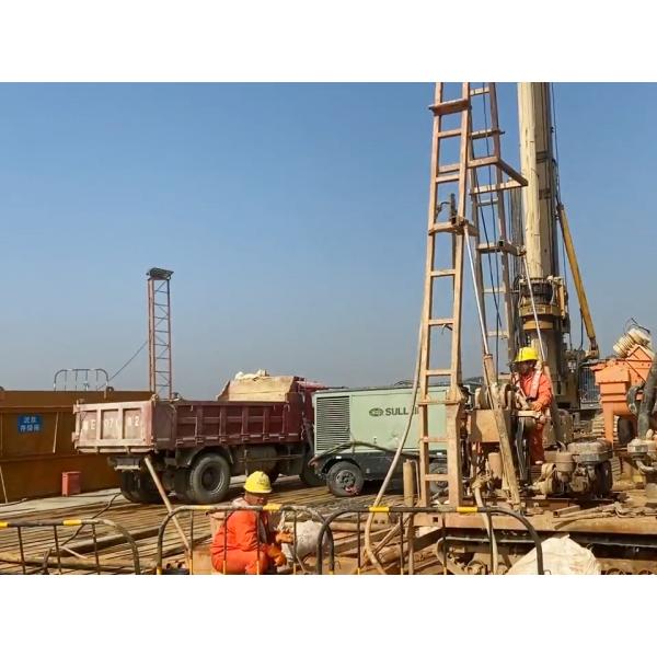 黄茅海大桥中塔主墩完成首根桩基混凝土灌注