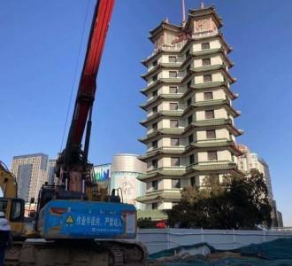 郑州二七广场隧道工程春节前桩基施工完毕